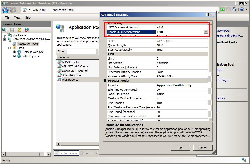 WebLog Expert Help - Setting Up IIS
